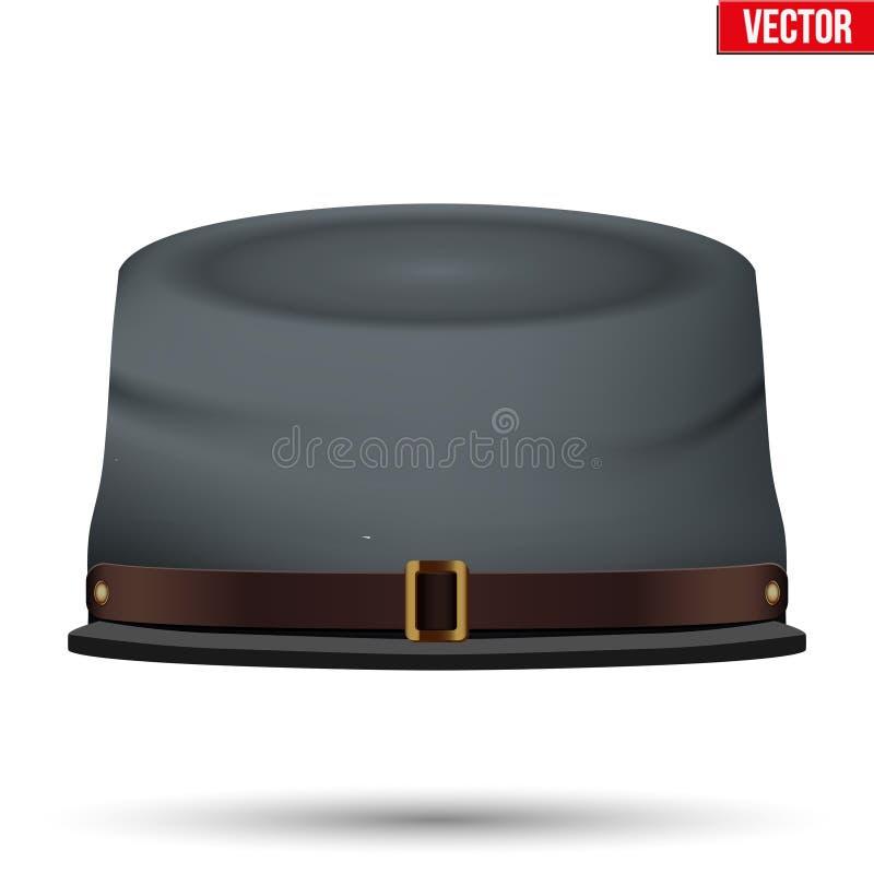 Sombrero americano de la caballería del confederado de la guerra civil ilustración del vector