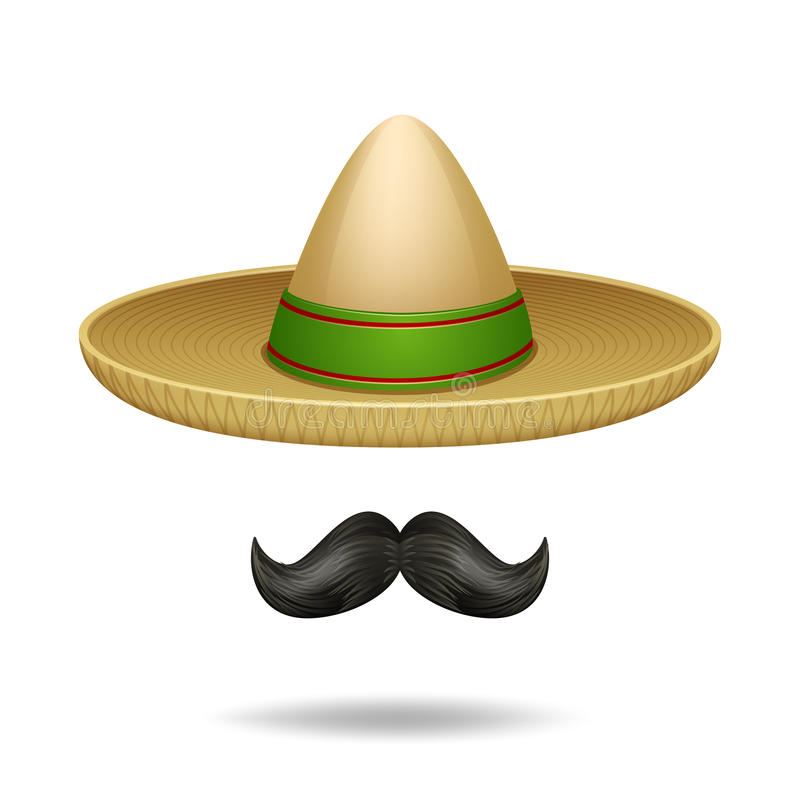 Free Sombrero And Mustache Stock Images - 54980314