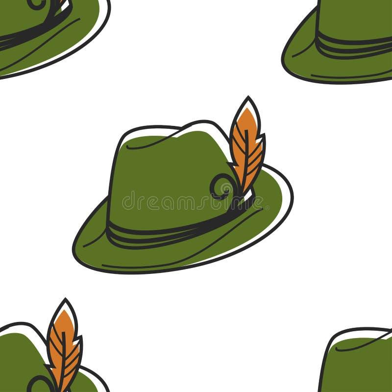 Sombrero austríaco del símbolo con el tocado de Robin Hood de la pluma libre illustration