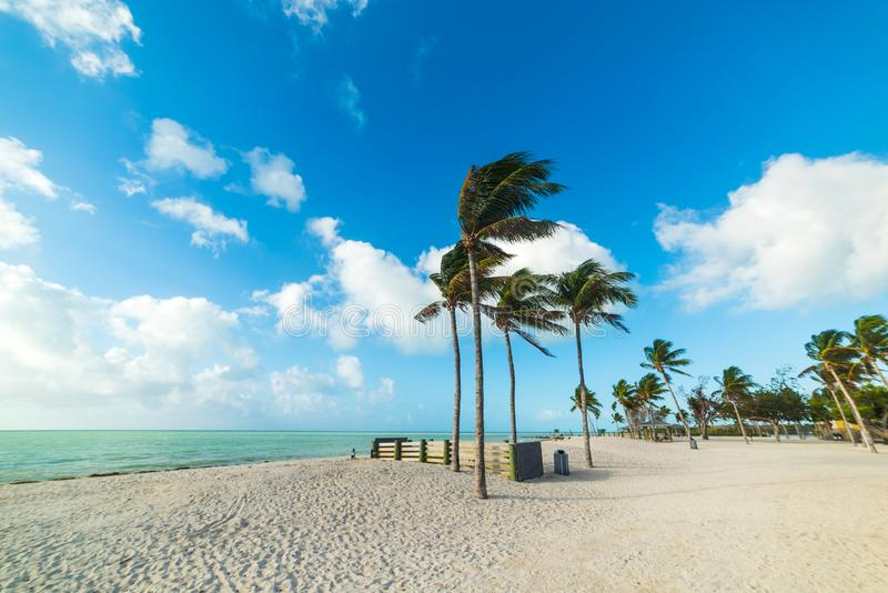 Sombrero Beach in Marathon Key in Southern Florida stock images