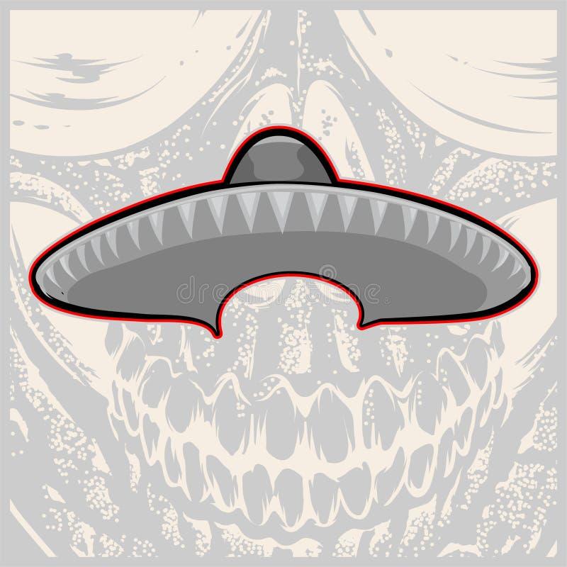 Sombrero - cappello messicano e baffi - illustrazione di vettore royalty illustrazione gratis