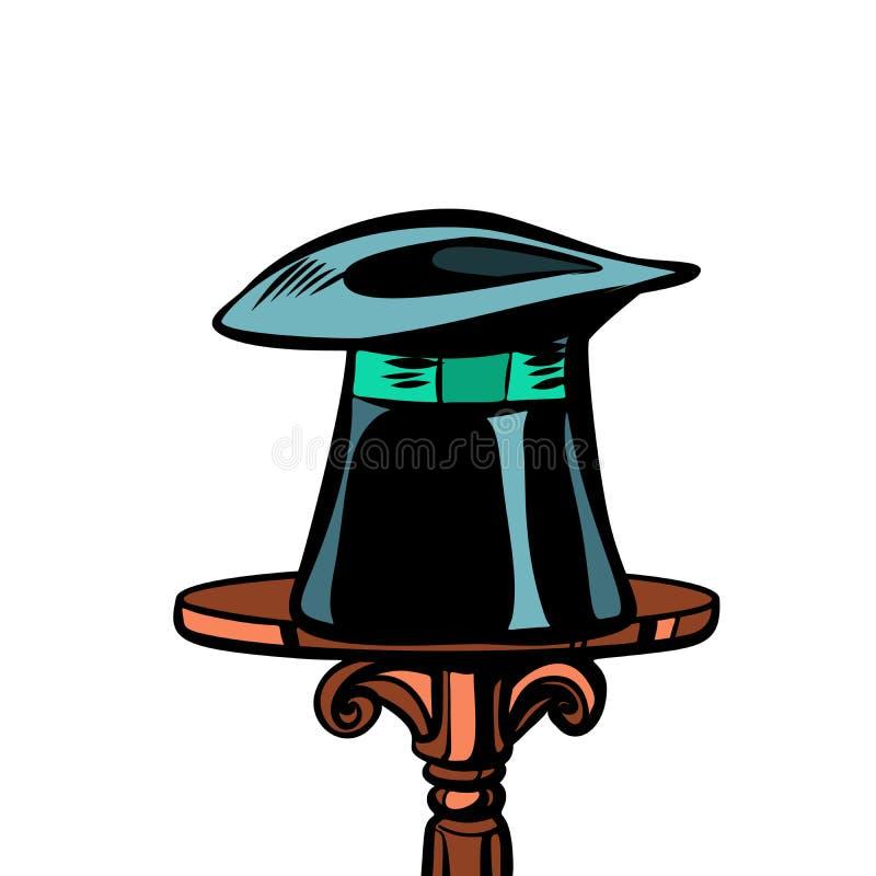 Sombrero, circo y magia del mago stock de ilustración