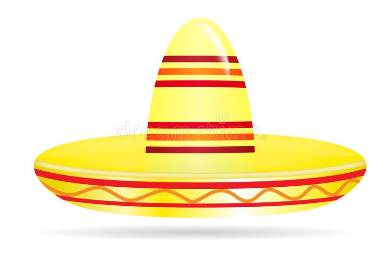 Sombrero coloré naturaliste sur le fond blanc Illustration de vecteur illustration de vecteur