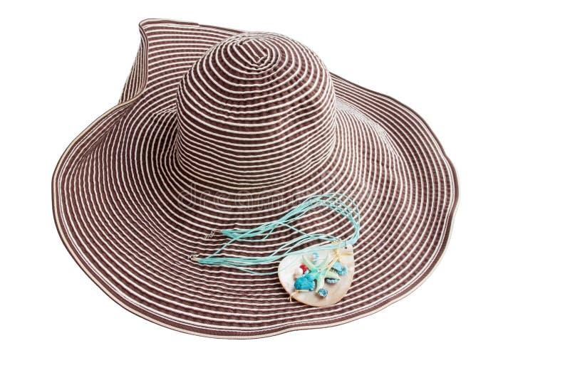 Sombrero con la suspensión fotografía de archivo