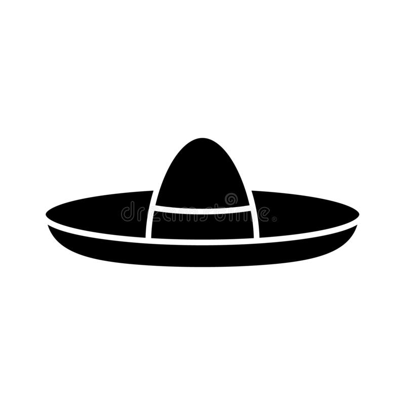 Mexican Sombrero Clipart Black And White, HD Png Download - vhv