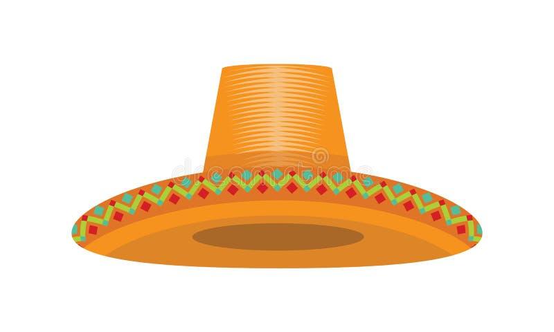 Sombrero de Cinco de Mayo del mexicano con la textura mexicana para su diseño Ilustraci?n del vector stock de ilustración