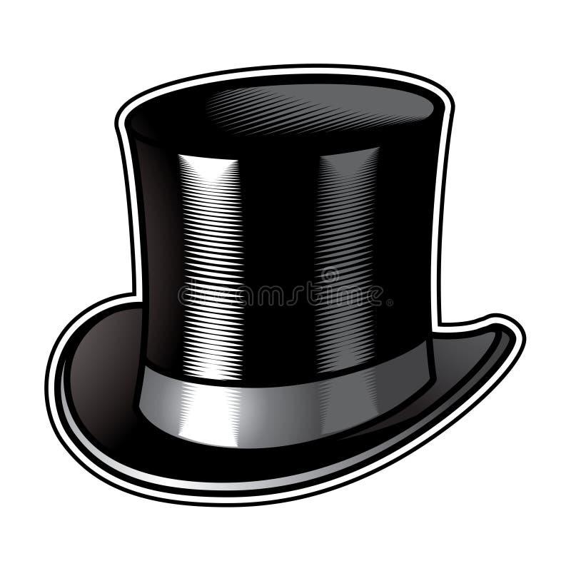 Sombrero de copa stock de ilustración