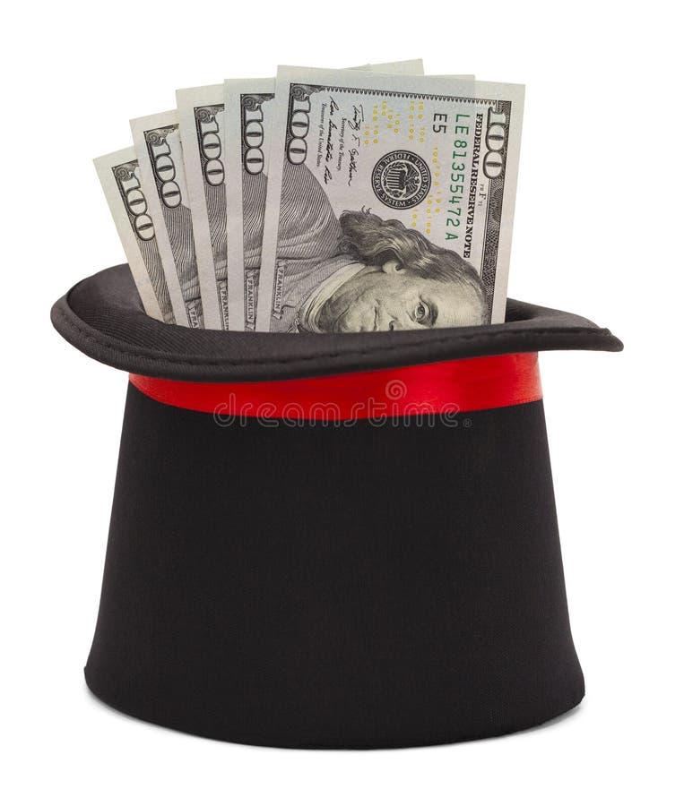 Sombrero de copa y dinero foto de archivo libre de regalías