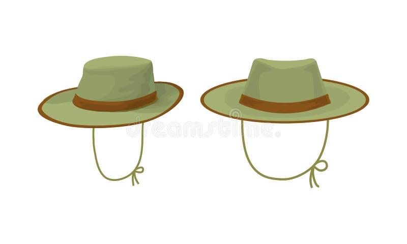 Sombrero de dos cazadores ilustración del vector