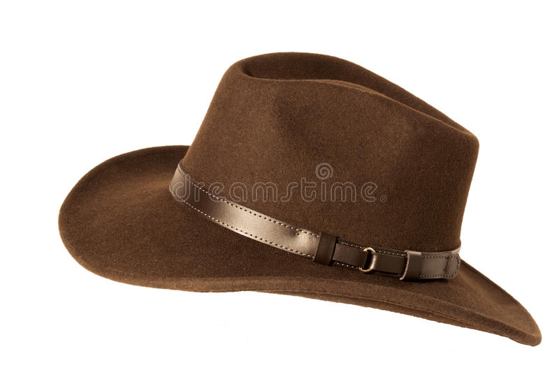 Sombrero de fieltro de Brown fotos de archivo libres de regalías