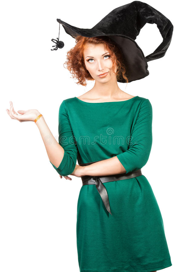 Sombrero de la bruja foto de archivo libre de regalías