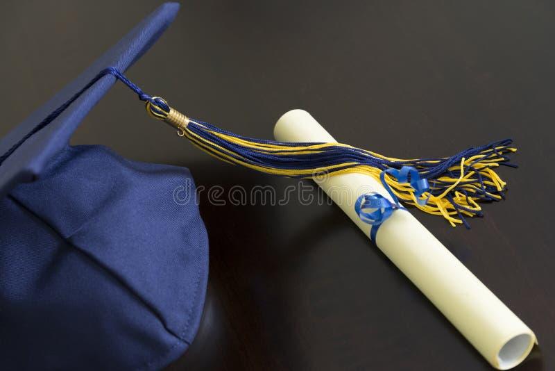 Sombrero de la graduación imagen de archivo