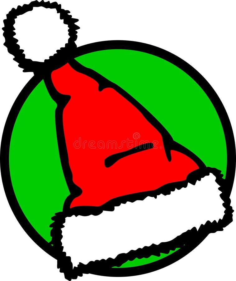 Sombrero de la Navidad de Papá Noel stock de ilustración