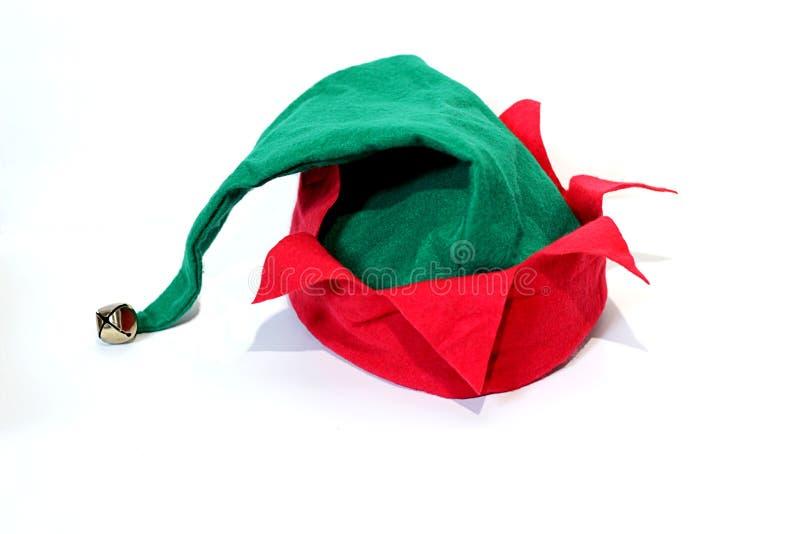 Sombrero de la Navidad del duende imágenes de archivo libres de regalías