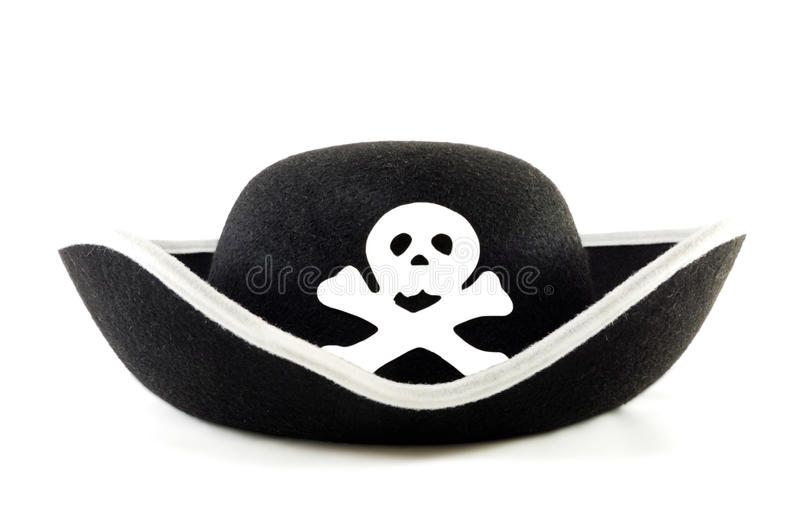 Sombrero de la piratería fotos de archivo