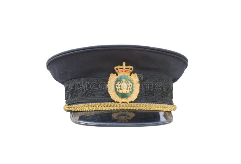 Sombrero de la policía fotografía de archivo