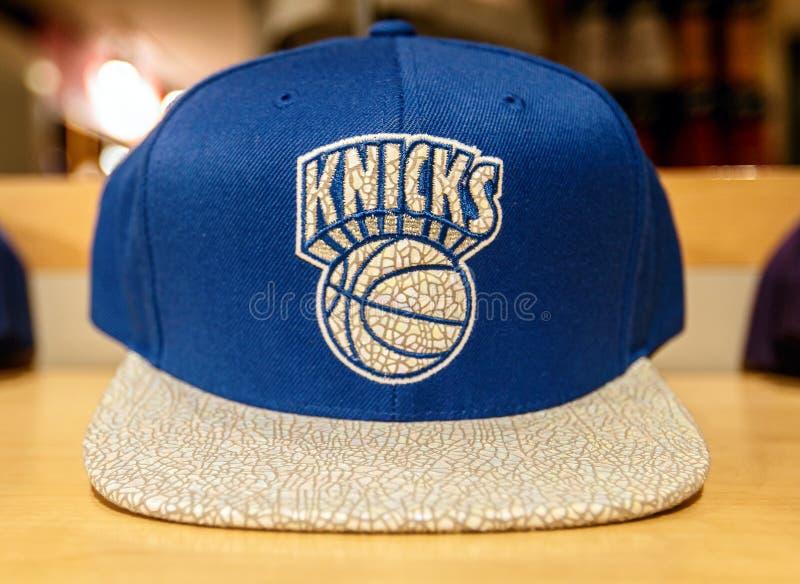 Sombrero de los New York Knicks fotografía de archivo