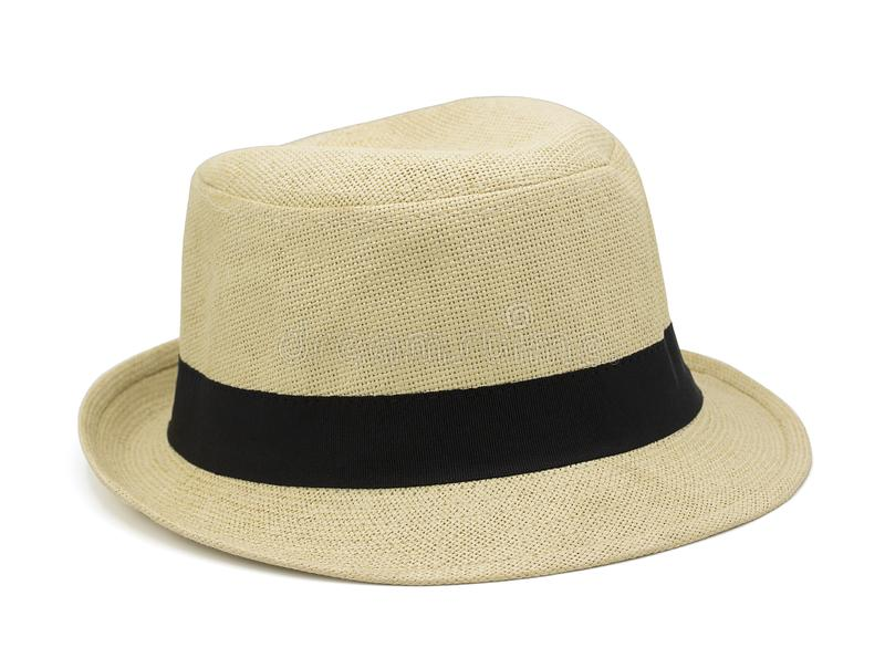 Sombrero de paja aislado en el fondo blanco con la trayectoria de recortes fotos de archivo libres de regalías