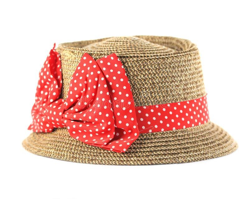 Download Sombrero De Paja Bonito Con La Flor En El Fondo Blanco Imagen de archivo - Imagen de jardín, borde: 41920569