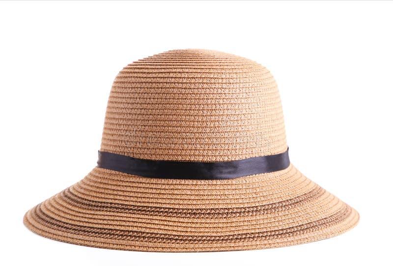 Sombrero de paja de Panam? del verano aislado en blanco fotografía de archivo