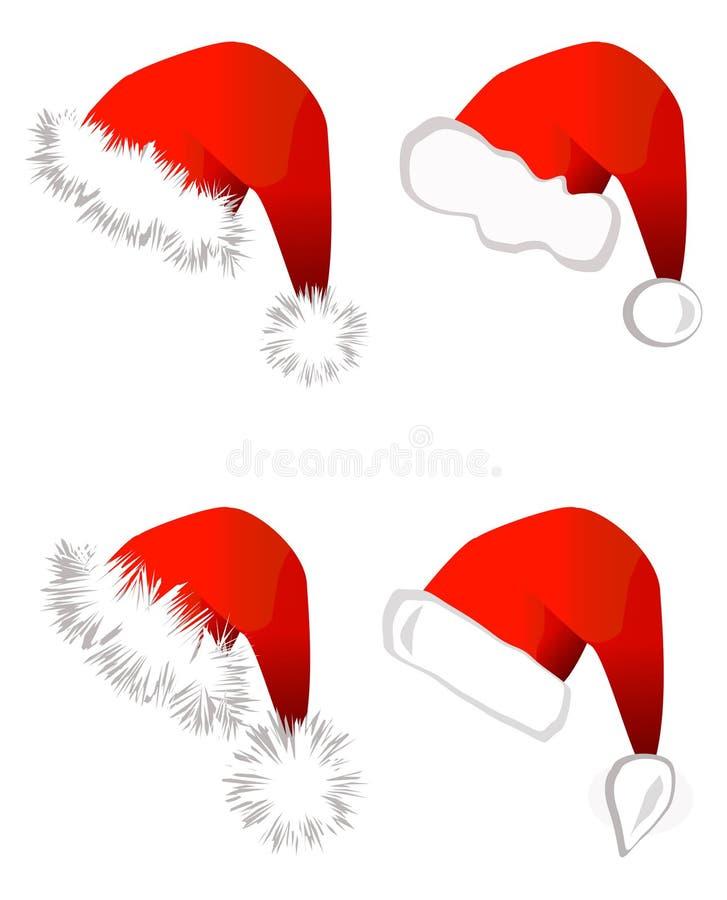 Sombrero de Papá Noel ilustración del vector