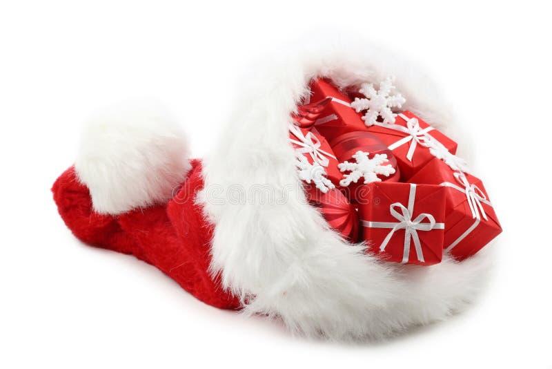 Sombrero de Papá Noel fotos de archivo