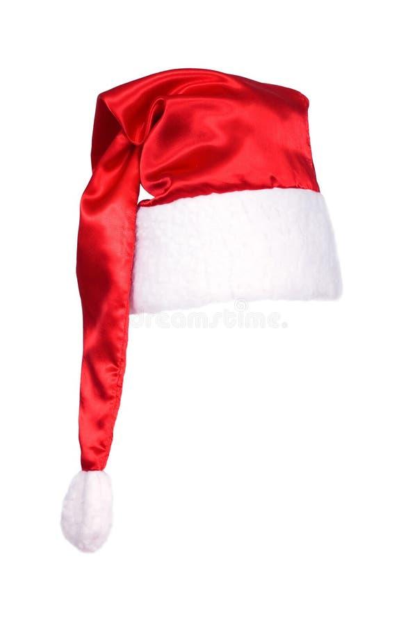 Sombrero de Papá Noel aislado imagenes de archivo