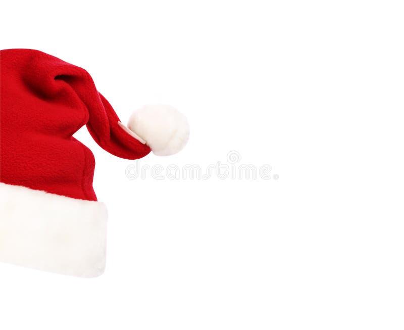 Sombrero de Papá Noel aislado en el fondo blanco imagenes de archivo