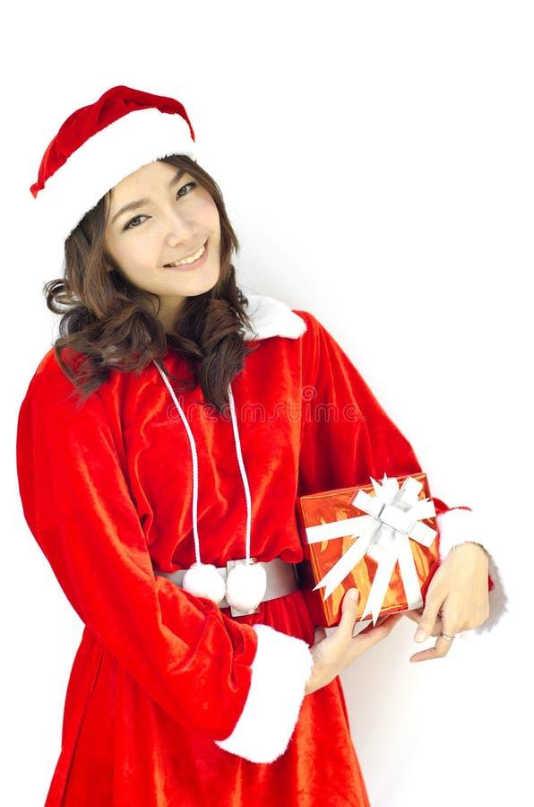 Sombrero de Papá Noel con la Navidad gris imagenes de archivo