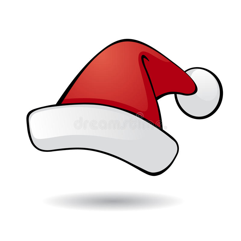 Sombrero de Santa. ilustración del vector
