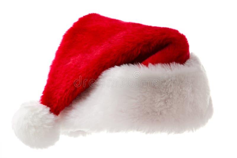 Sombrero de Santa aislado en blanco imágenes de archivo libres de regalías