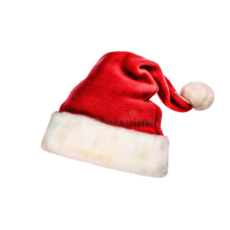 Sombrero de Santa Claus, aislado, la Navidad, Año Nuevo, invierno fotos de archivo