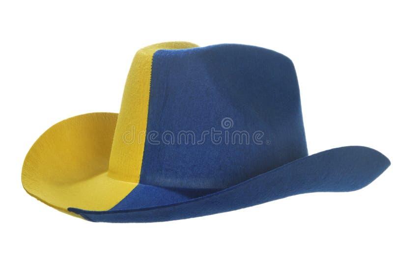 sombrero de vaquero Amarillo-azul imagen de archivo