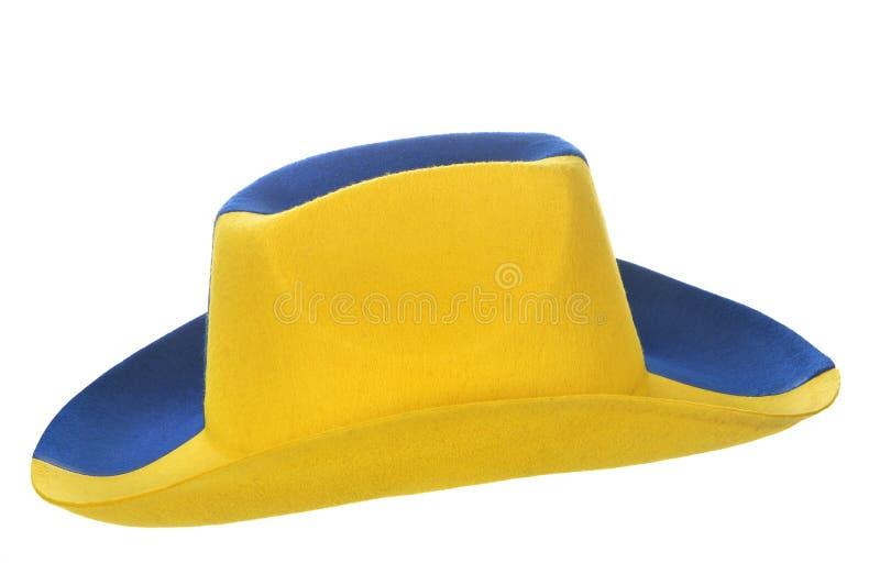 sombrero de vaquero Amarillo-azul fotos de archivo libres de regalías