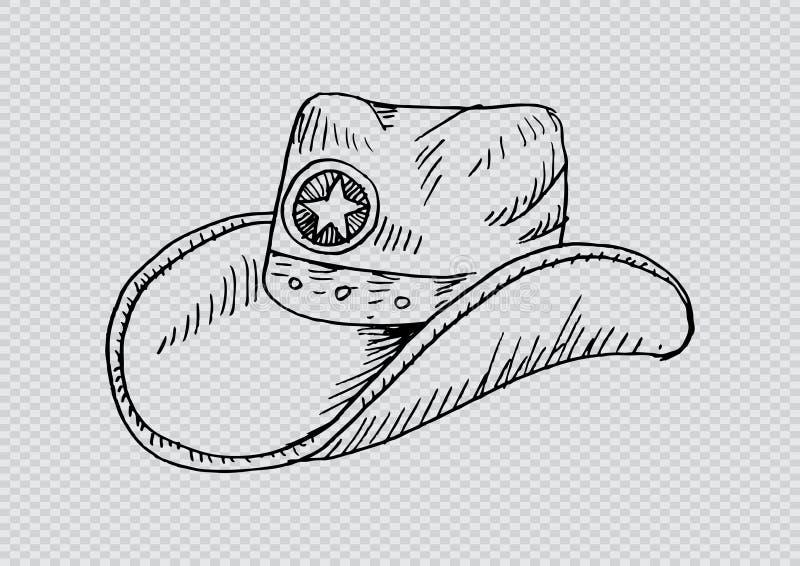Sombrero de vaquero Estilo incompleto ilustración del vector