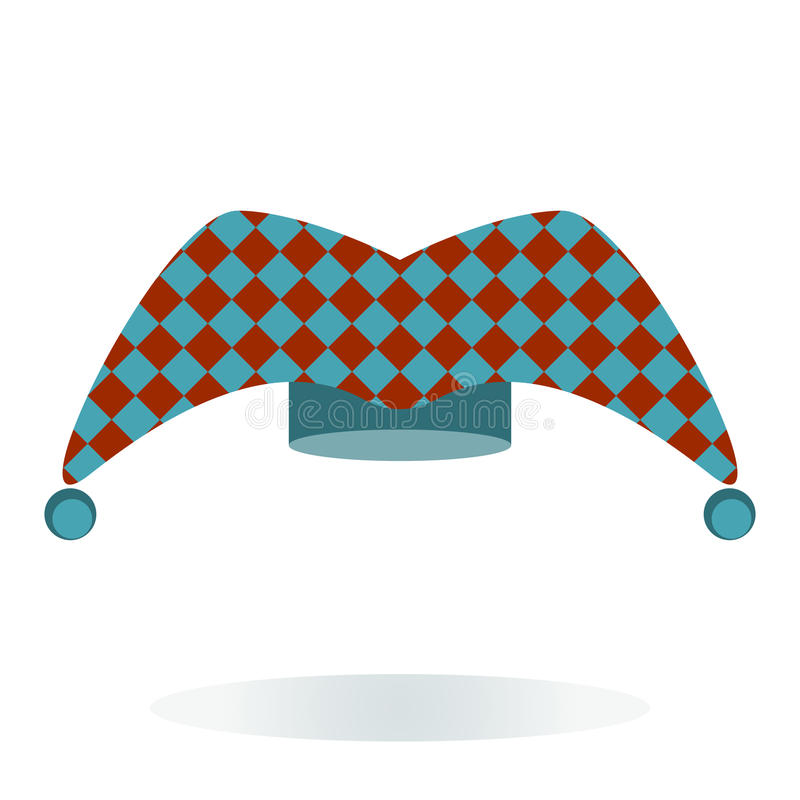 Sombrero del bufón ilustración del vector