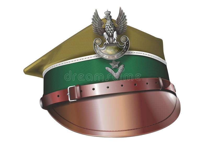 Sombrero del Calvary del polaco de Uhlans stock de ilustración