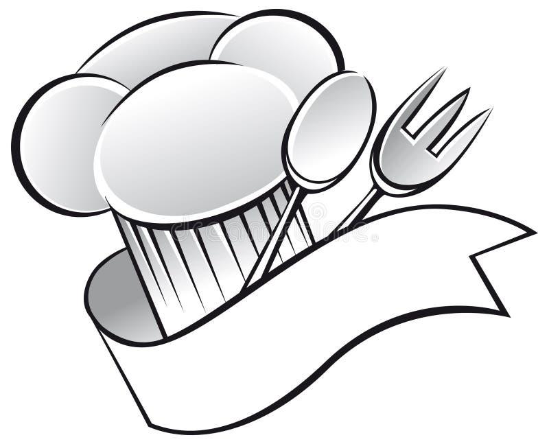 Sombrero del cocinero stock de ilustración