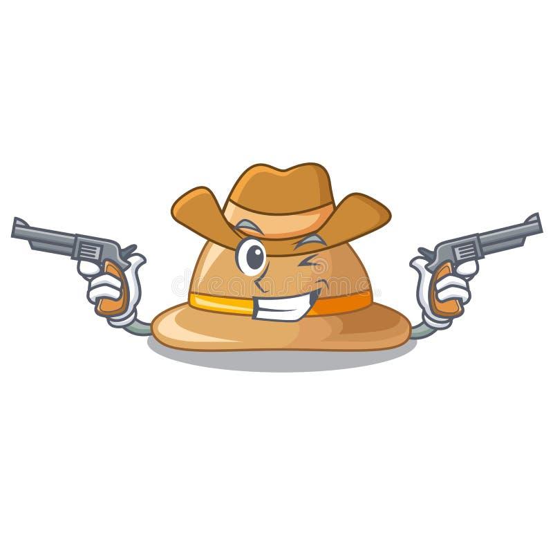 Sombrero del corcho del vaquero aislado en la mascota libre illustration