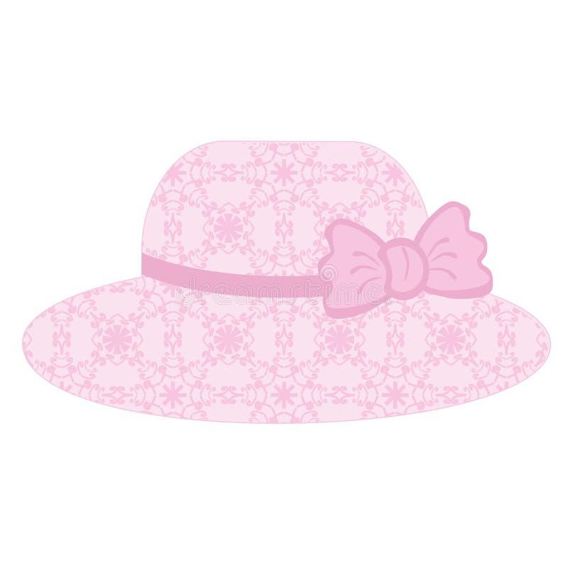 Sombrero del cordón en el fondo blanco libre illustration