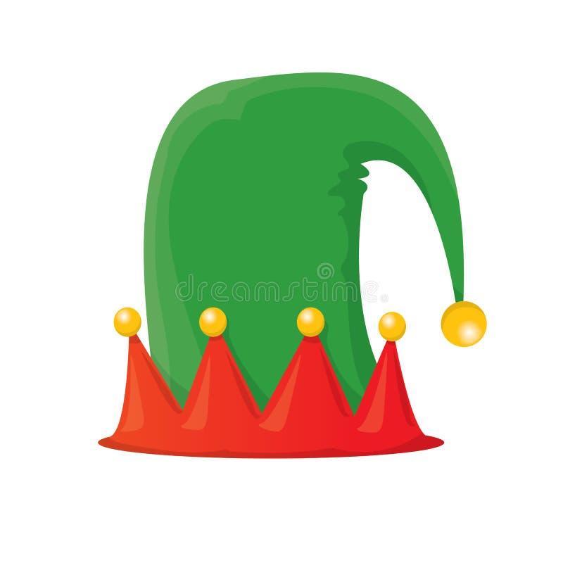Sombrero del duende de la Navidad Ilustración del vector libre illustration