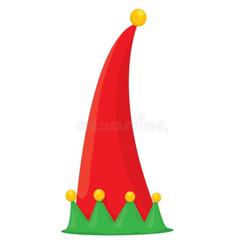 Sombrero del duende de la Navidad Ilustración del vector ilustración del vector