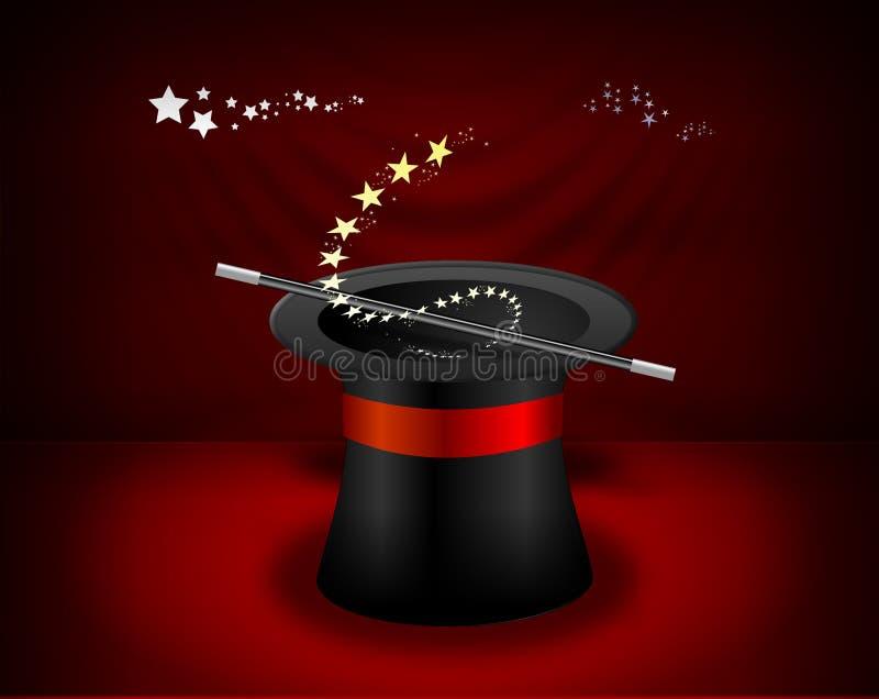 Sombrero del mago ilustración del vector