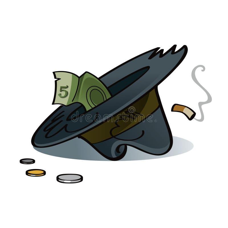 Sombrero del mendigo stock de ilustración