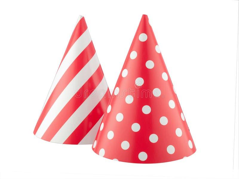 Sombrero del partido aislado en un fondo blanco foto de archivo libre de regalías