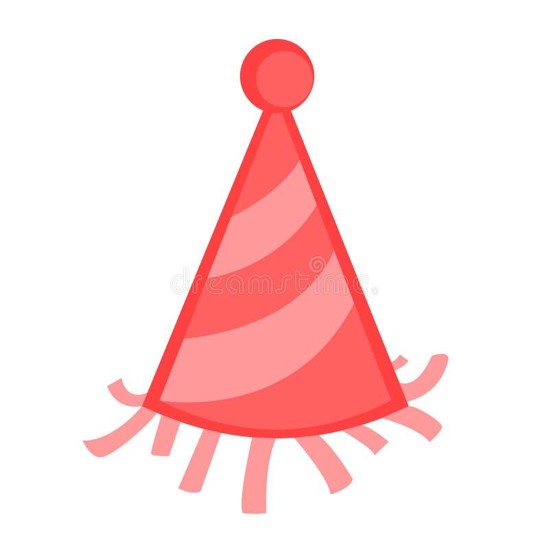 Sombrero del partido del color ilustración del vector