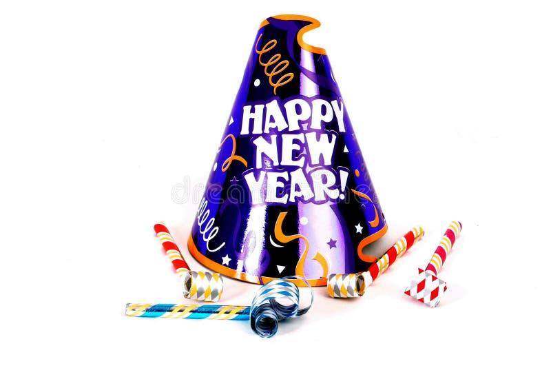 Sombrero del partido de la Feliz Año Nuevo imagenes de archivo