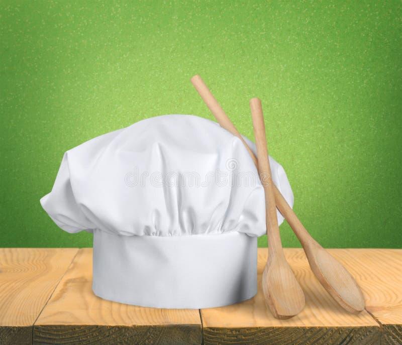 Sombrero del ` s del cocinero fotografía de archivo