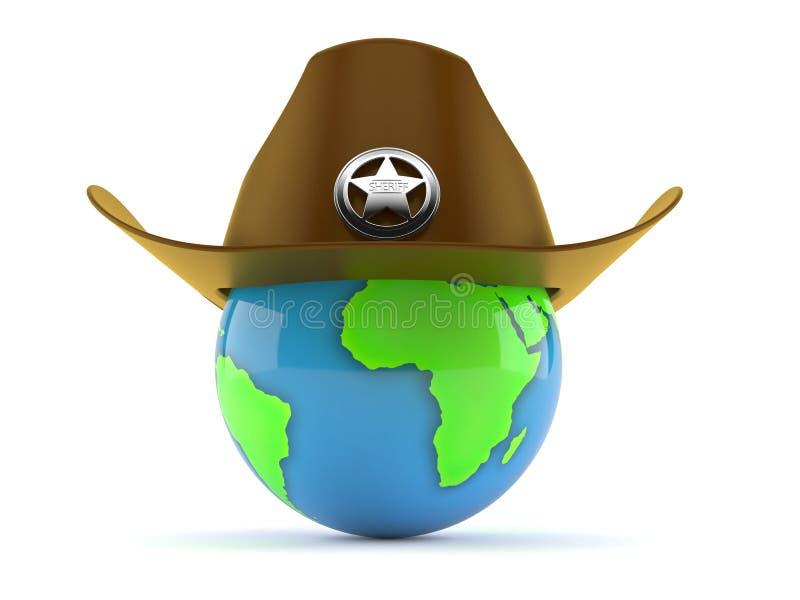 Sombrero del sheriff con el globo libre illustration