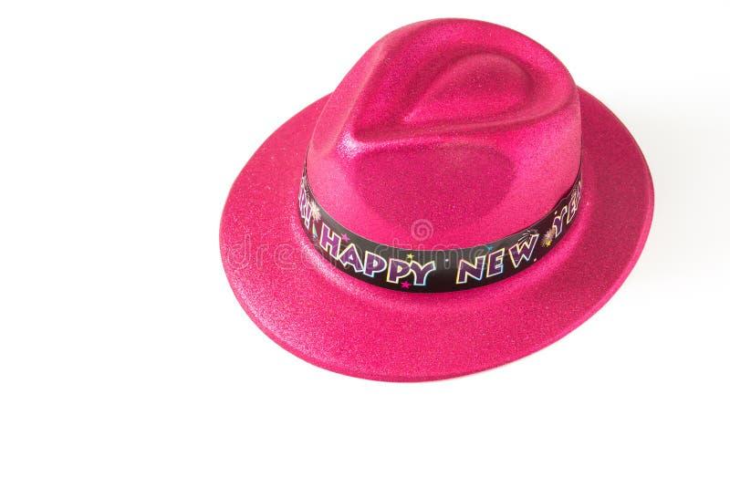 Sombrero en el fondo blanco imagen de archivo libre de regalías